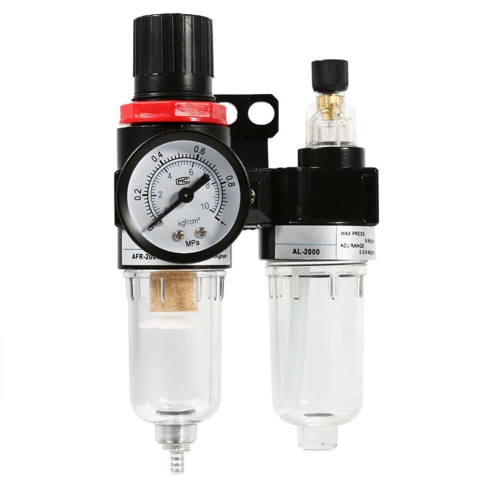 Filtro Lubrifil regulador de pressão tira água e lubrifica ferramenta 1/4