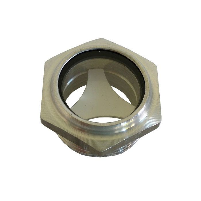 Kit 2 Visor Nível De Óleo Compressor Rosca 3/4 Bsp Alumínio