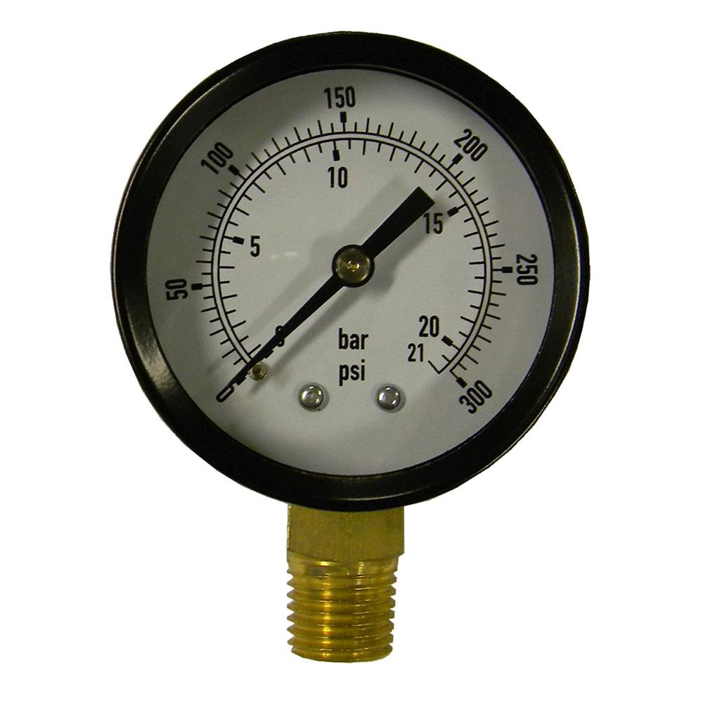 Manômetro medidor de pressão Vertical 1/4 20Bar 300psi