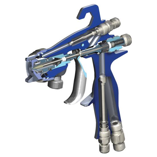 Pistola de pintura retoque bico 1.0mm 110ml