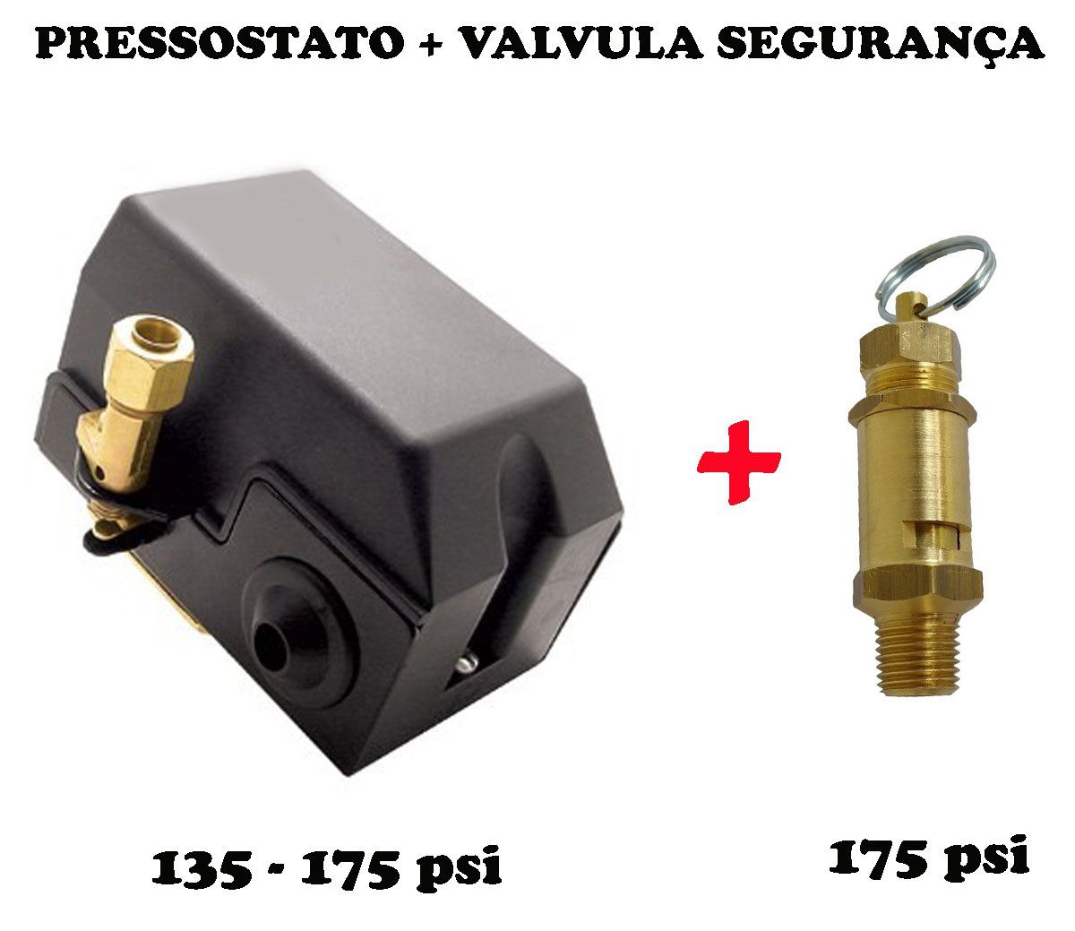 Pressostato Automático Alav. + Válvula Segurança 135- 175psi