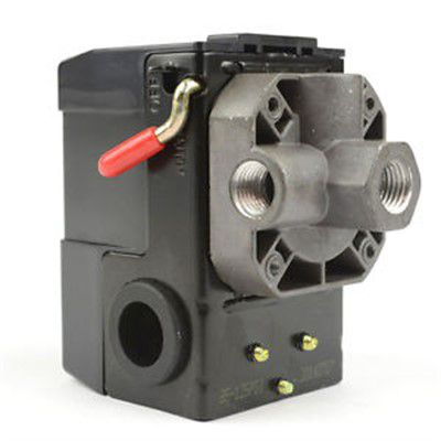 Pressostato Compressor Automático Alavanca 80 - 120 psi 4 vias