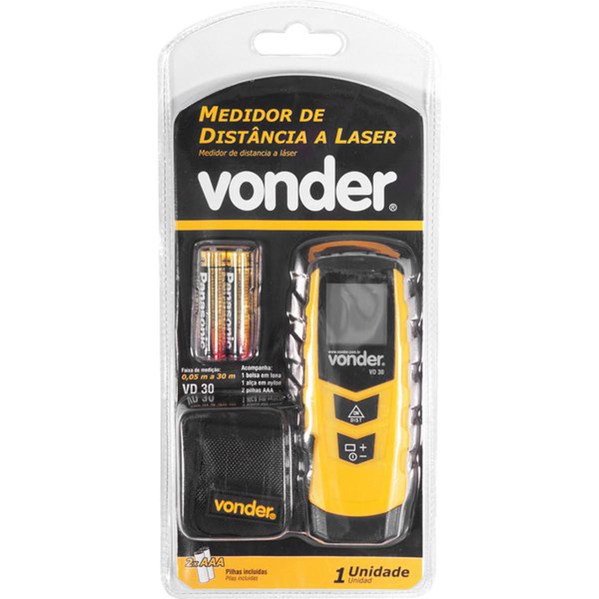 Trena À Laser Vonder 0,05m À 30m Vd 30 Medidor De Distância