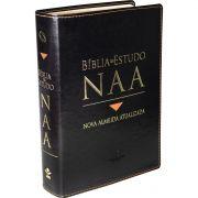 Bíblia de Estudo NAA Completa - Super Luxo