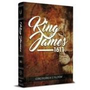 Bíblia King James 1611 C/Concordância Palavras Jesus em Vermelho Capa Leão