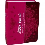 Bíblia Sagrada Evangélica Feminina Letra Gigante Capa Florida Pink