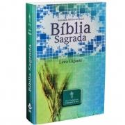 Bíblia Sagrada Evangélica Letra Gigante Linguagem De Hoje Capa Brochura Ilustrada Azul