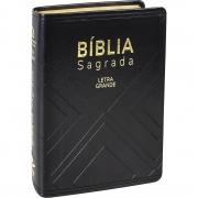 Bíblia Sagrada Evangélica Tamanho Pequeno Letra Grande Linguagem Fácil Capa Preta Nobre