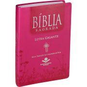 Bíblia Sagrada Letra Gigante | Índice | Capa Luxo Pink | NTLH