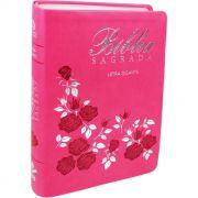 Bíblia Sagrada | Letra Gigante | NAA | Capa Pink Flor | c/ Índice