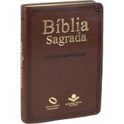 Bíblia Sagrada Nova Almeida Atualizada - Capa Couro Sintético Marrom