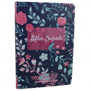 Bíblia Sagrada Evangélica Capa Florida Linguagem Fácil