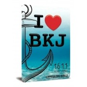 Bíblia Sagrada King James 1611 Lettering Bible Capa Jovem I Love BKJ
