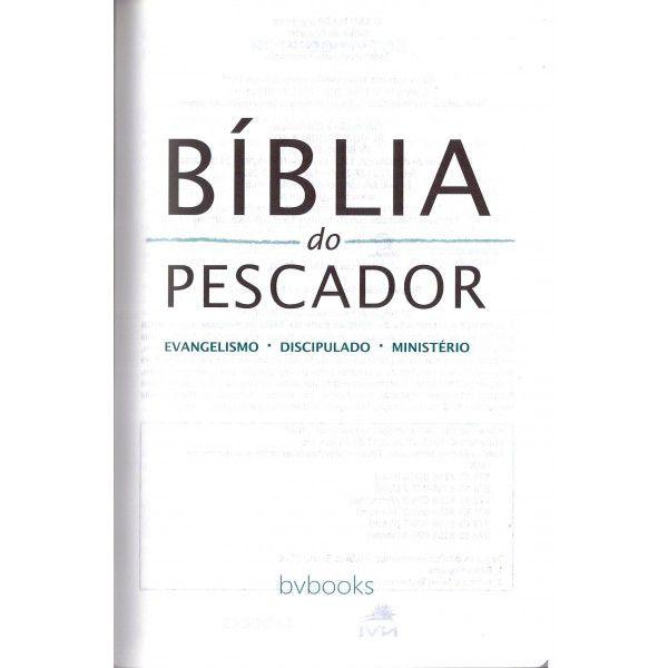 Bíblia do Pescador Dr. Díaz Pabón - NVI - Capa luxo Azul
