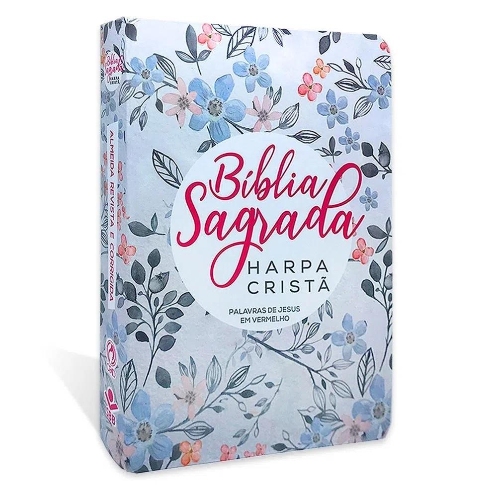 Bíblia Evangélica Feminina de Estudo RC + Bíblia Com Harpa Letra Grande Capa Floral RC