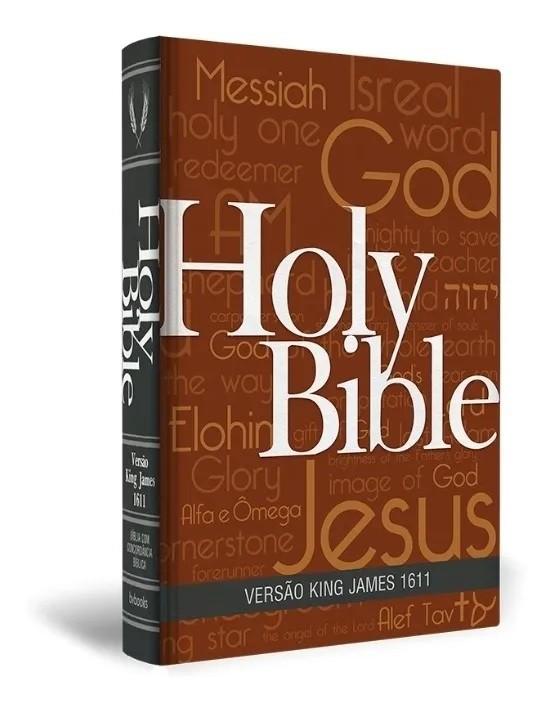 Bíblia King James 1611 C/Concordância Palavras Jesus em Vermelho Capa Holy Bible