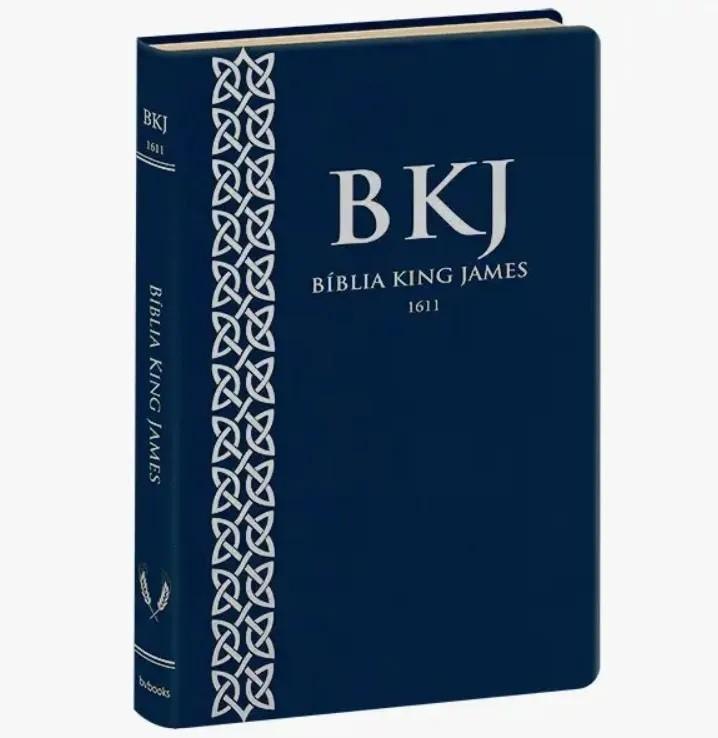 Bíblia King James 1611 Ultra Fina Capa Luxo Azul