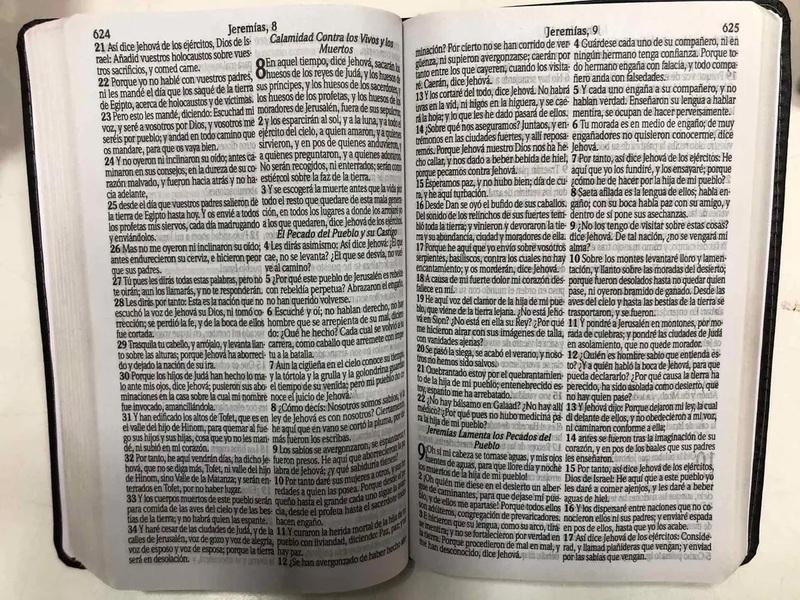 Bíblia Reina Valera   RVT   Espanhol   Letra Gigante   Luxo Preta