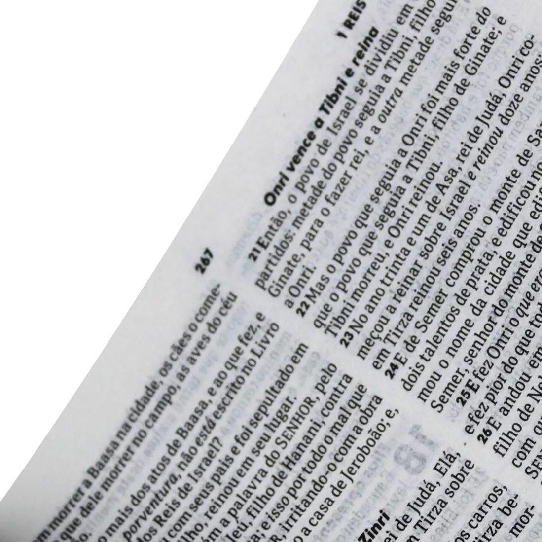 Bíblia Sagrada Almeida Revista e Corrigida - Slim - Cp Sint Preto Alpha
