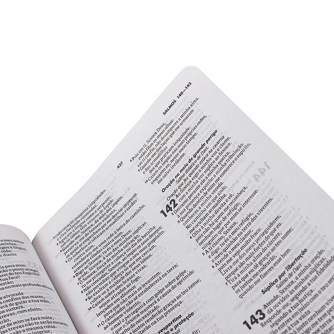Bíblia Sagrada Evangélica ARA Lettering Capa Dura Flores I Linguagem Atualizada