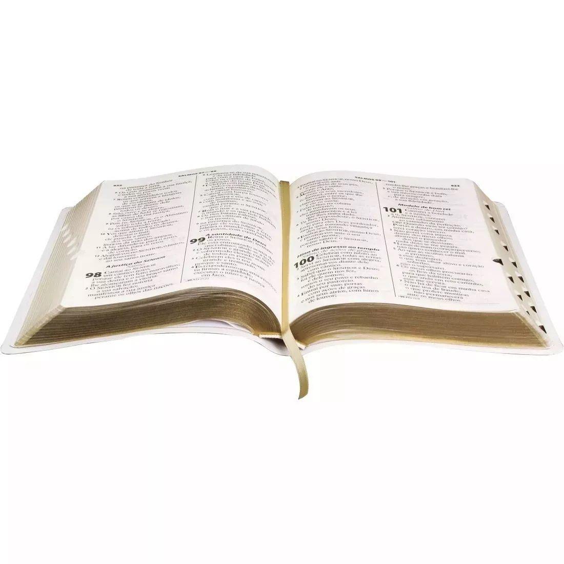 Bíblia Sagrada Letra Gigante c/Índice Notas Referências Branca