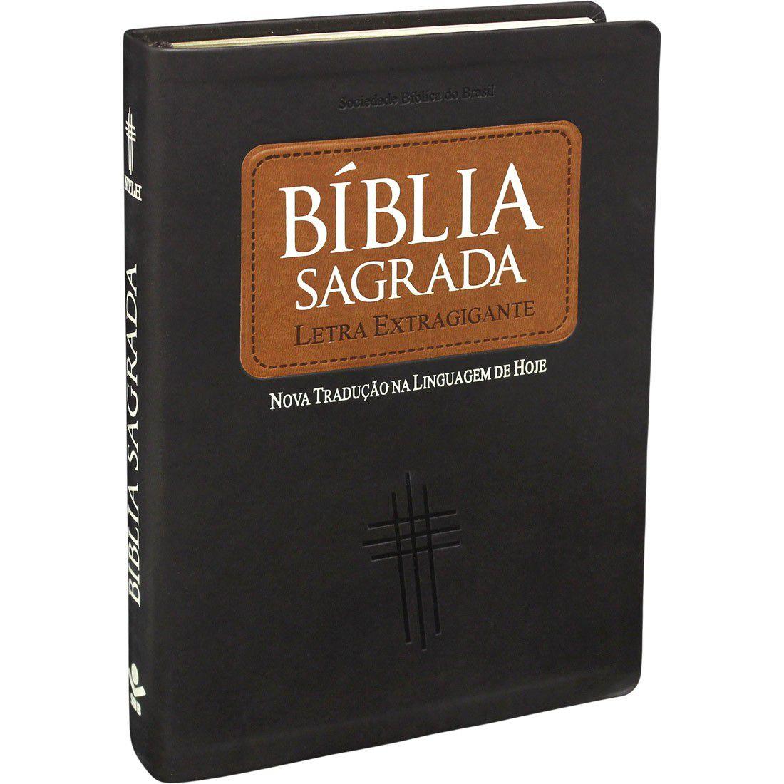 Bíblia Sagrada  Evangélica NTLH  Letra Extragigante  Capa Luxo c/ Índice Lateral