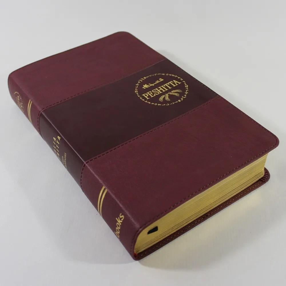 Bíblia Sagrada Peshitta Com Referências Vinho Luxo