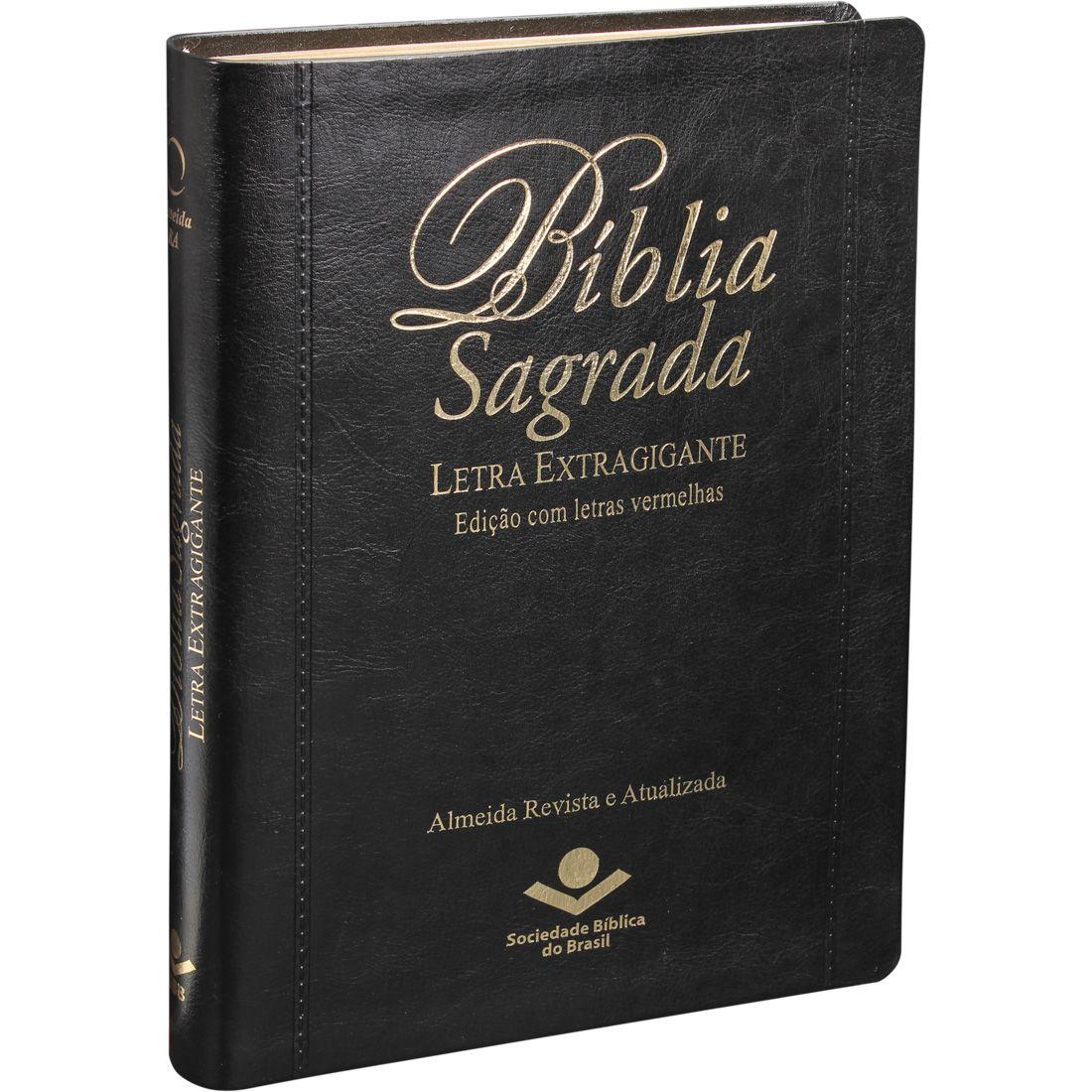 Bíblia Evangélica Letra Extragigante Com Índice e Palavra de Jesus em Vermelho - ARA