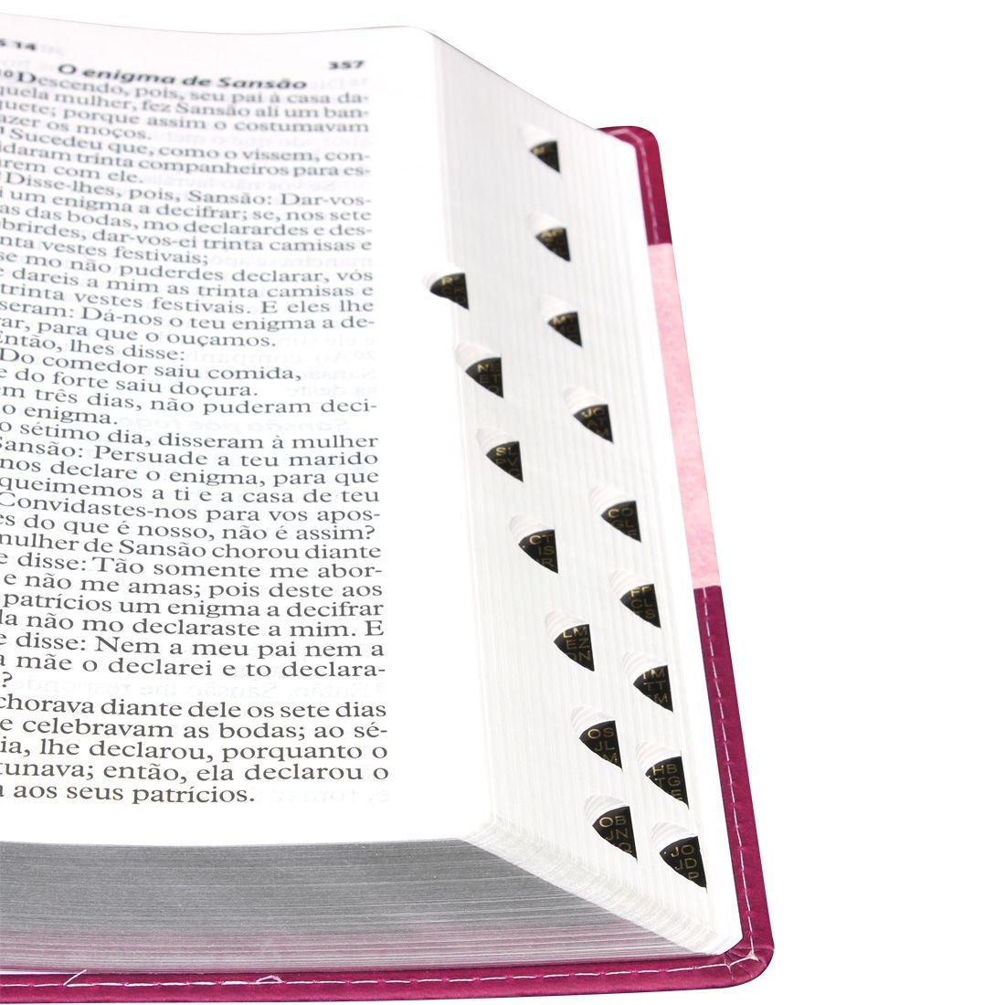 Bíblia Evangélica Feminina Letra Extragigante C/Índice Palavra de Jesus em Vermelho