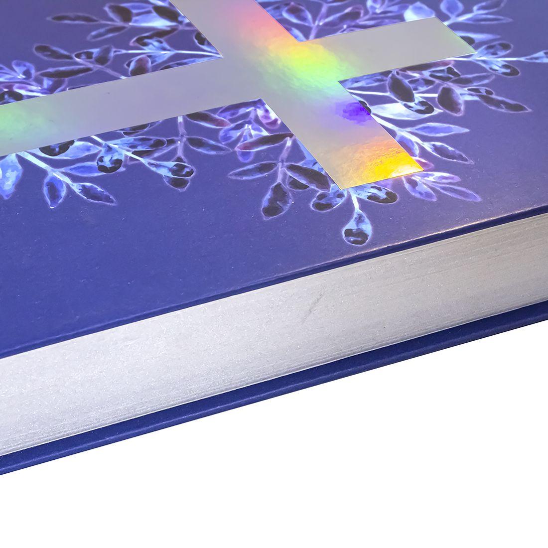Bíblia Sagrada Evangélica ARA Lettering Capa Dura Cruz Luz Linguagem Atualizada