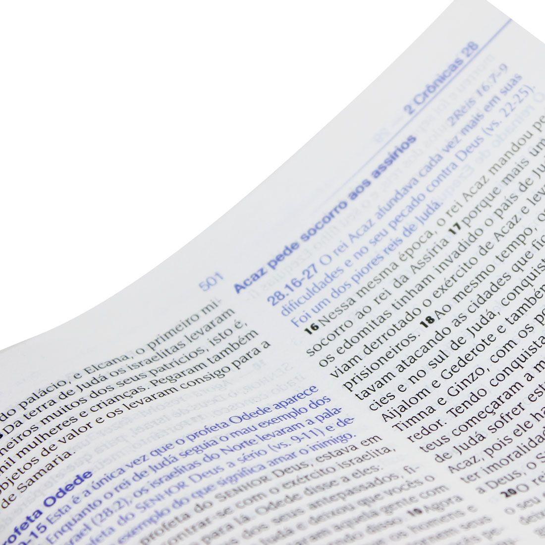 Bíblia De Estudo NTLH Linguagem Fácil Formato Grande Capa Luxo Azul