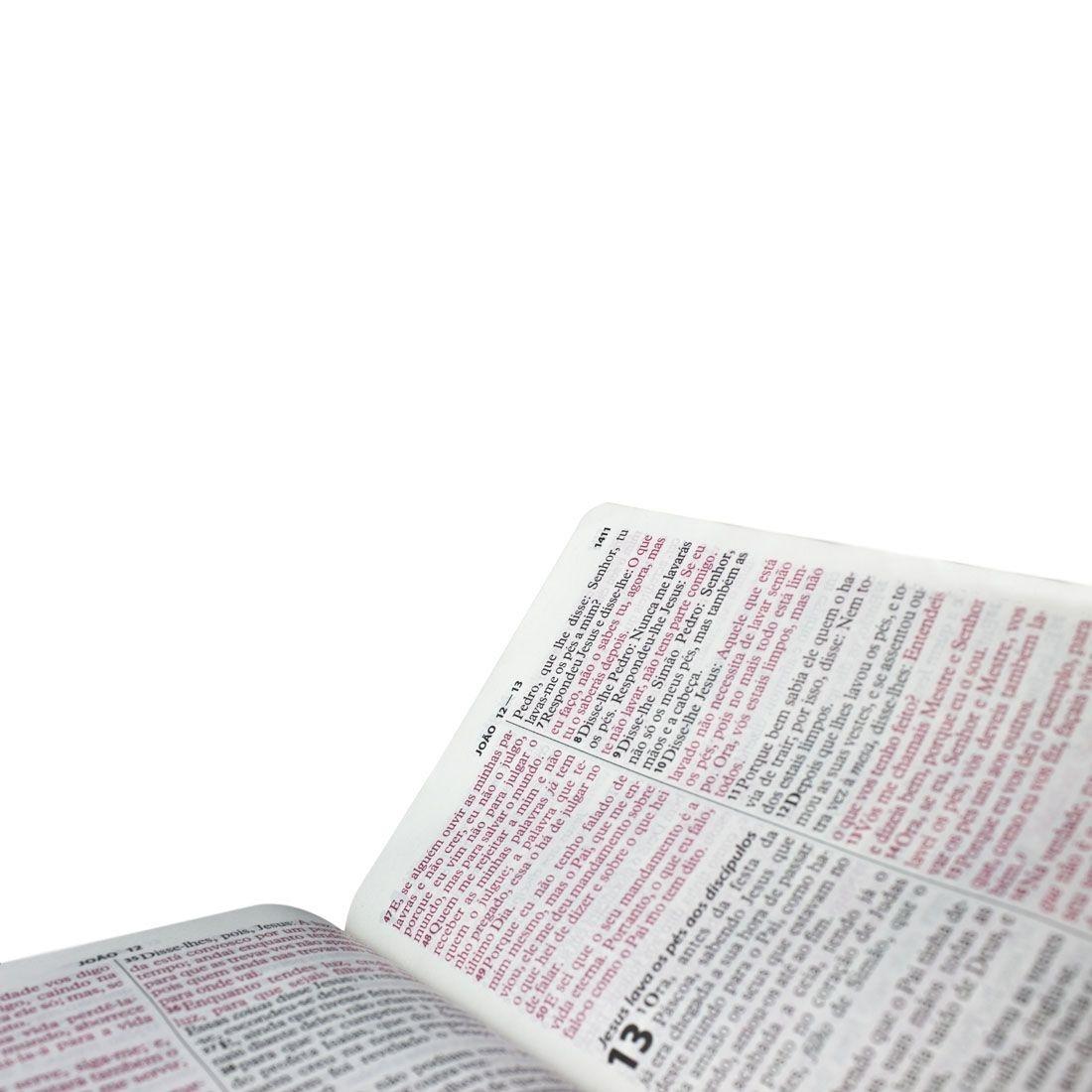 Bíblia Sagrada Com Harpa Letra Gigante Palavras de Jesus em Vermelho Capa Luxo Preta