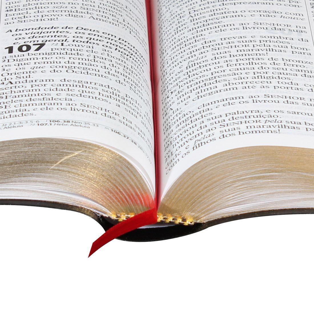 Bíblia Sagrada Letra Gigante Preta Com Índice e Letra Vermelha