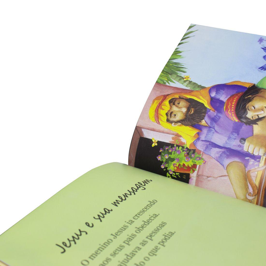 Kit Bíblia Feminina Evangélica de Estudo Capa Tulipa + Conta Prá Mim - Histórias da Bíblia - Rosa