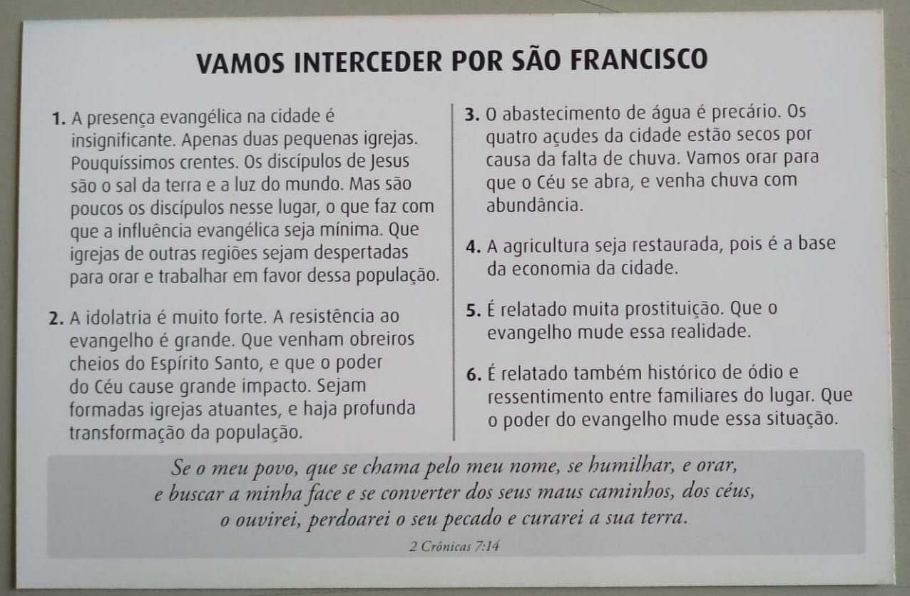Orações Para Cidades Do Sertão Nordestino