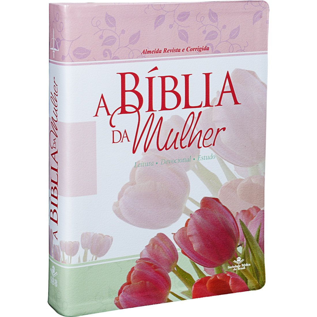 Bíblia Evangélica Feminina de Estudo RC + Bíblia Com Harpa Letra Gigante Capa Flores Cerejeira RC