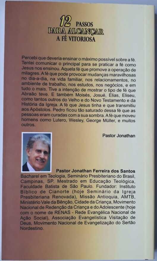 Livro 12 Passos Para Alcançar a Fé Vitoriosa Pastor Jonathan F Santos