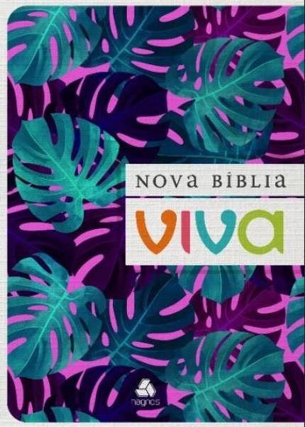 Nova Bíblia Viva - Formato Grande - Letra Grande - Brochura Roxa