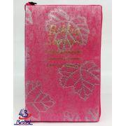 Bíblia com Harpa Letra Gigante ARC Zíper (Rosa Pink)
