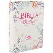 Bíblia da Mulher RA SBB (Zíper Flores)