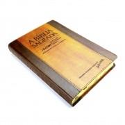 Bíblia SBTB ACF RCM Letra Gigante Luxo Couro (Chocolate)
