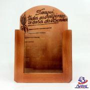 Porta-Envelopes para Dízimos em Madeira Envernizada c/ Vidro