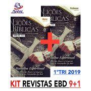 Revista CPAD Lições Bíblicas EBD 1° TRIM. 2019 (Kit 9 ALUNOS + 1 PROF.)