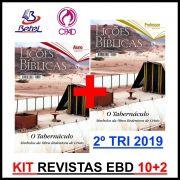 Revista CPAD Lições Bíblicas EBD 2° TRIM. 2019 (Kit 10 ALUNOS + 2 PROF.)