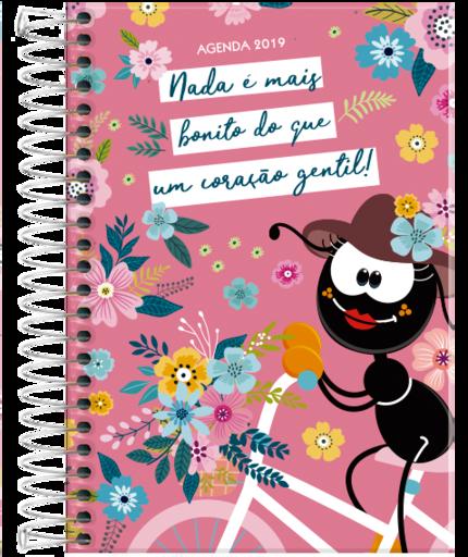 Agenda 2019 Luz e Vida Faniquita Espiral Grande  - Livraria Betel