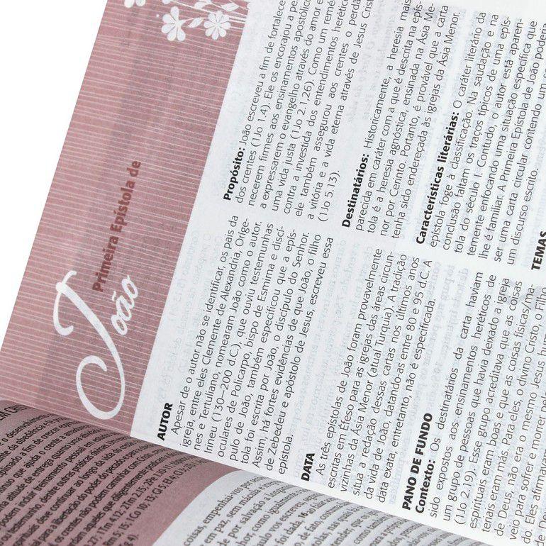 Bíblia da Mulher RA SBB Gigante (Tulipa)  - Livraria Betel