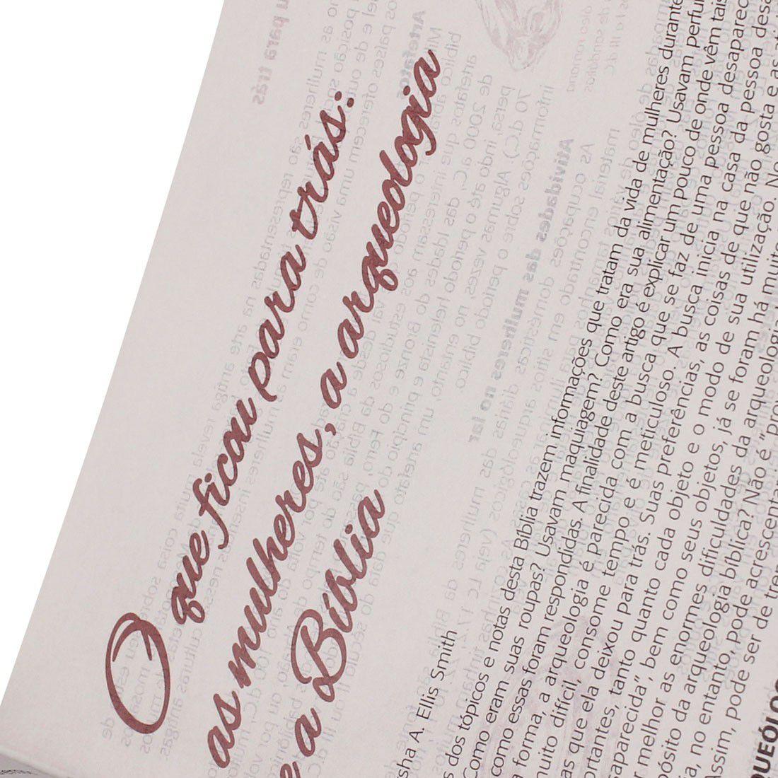 Bíblia da Mulher RA SBB (Zíper Flores)  - Livraria Betel