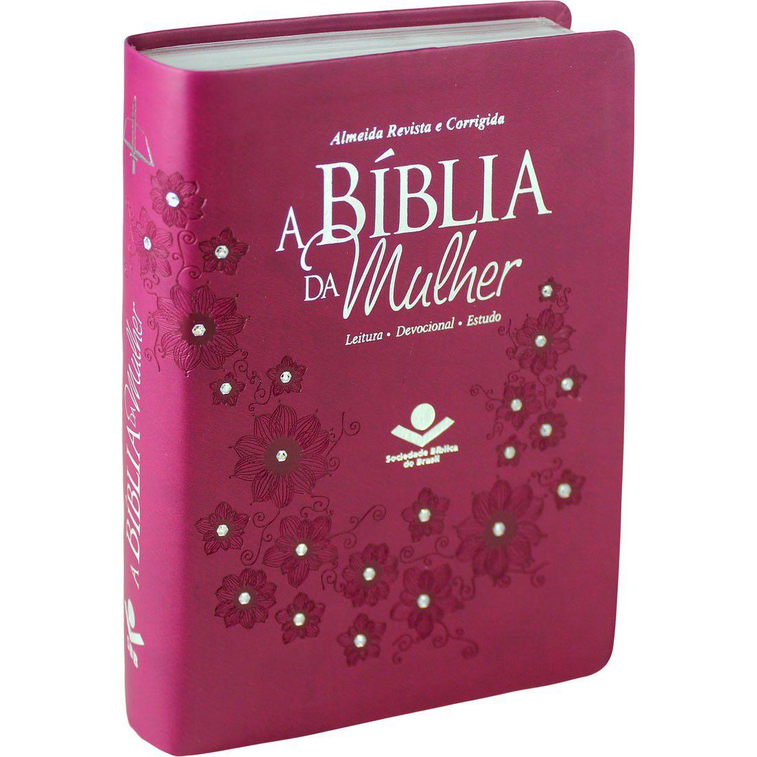 Bíblia da Mulher RC SBB (Vinho)  - Livraria Betel