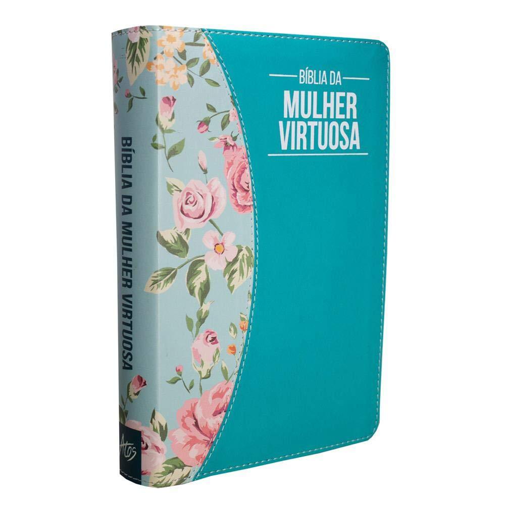 Bíblia da Mulher Virtuosa (Turquesa/Tiffany)  - Livraria Betel