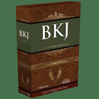 Bíblia de Estudo King James 1611 Holman (Preto com Marrom)  - Livraria Betel